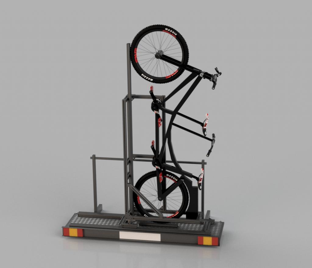 Tandem-Halter im Transport-Modus